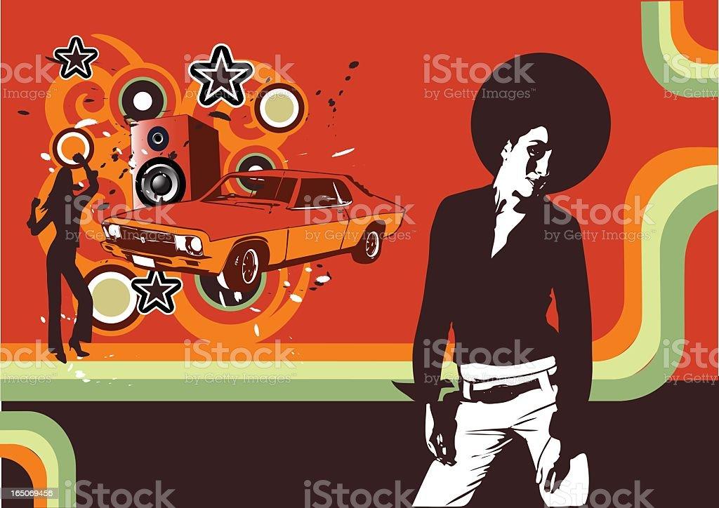 Soul Sista Grunge vector art illustration