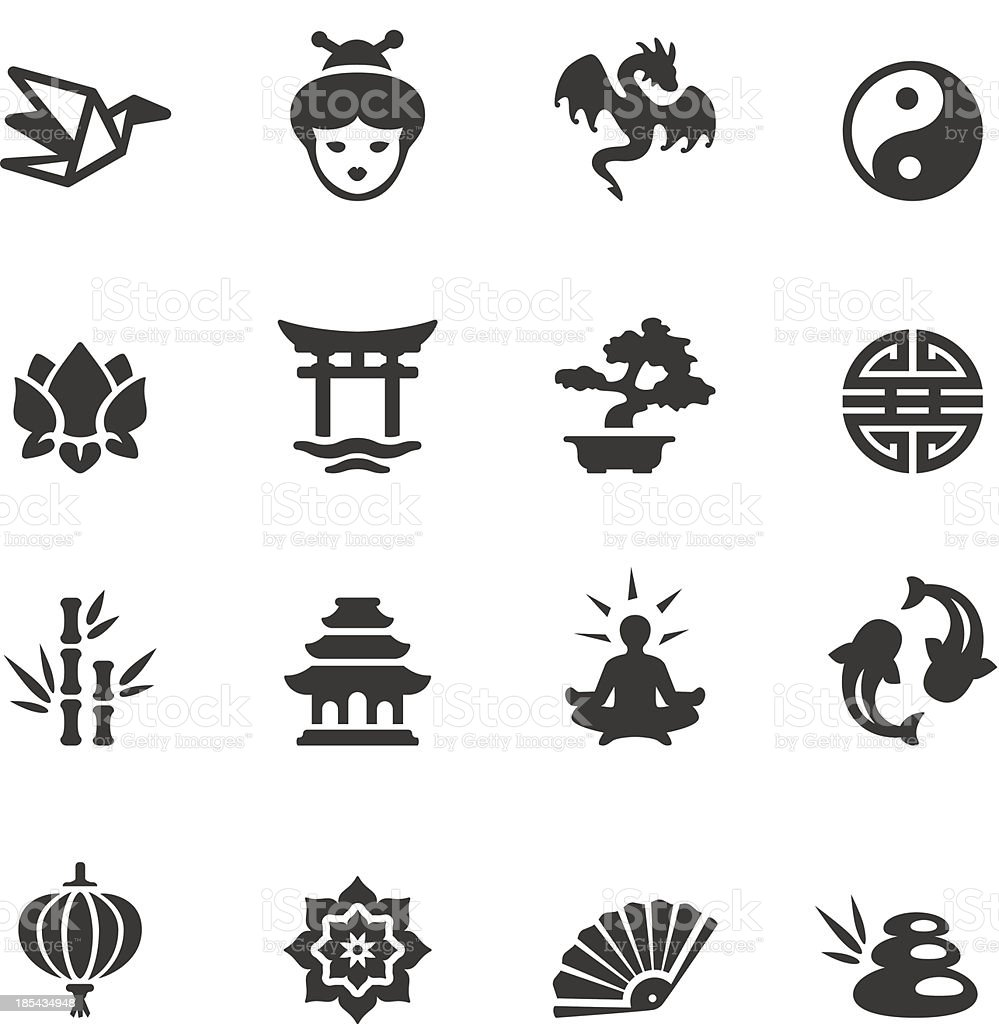 Soulico - Asian icons royalty-free stock vector art