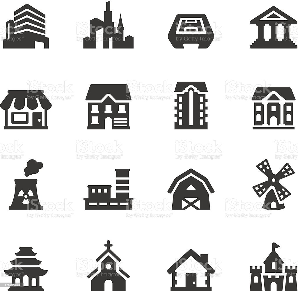 Soulico - Buildings vector art illustration