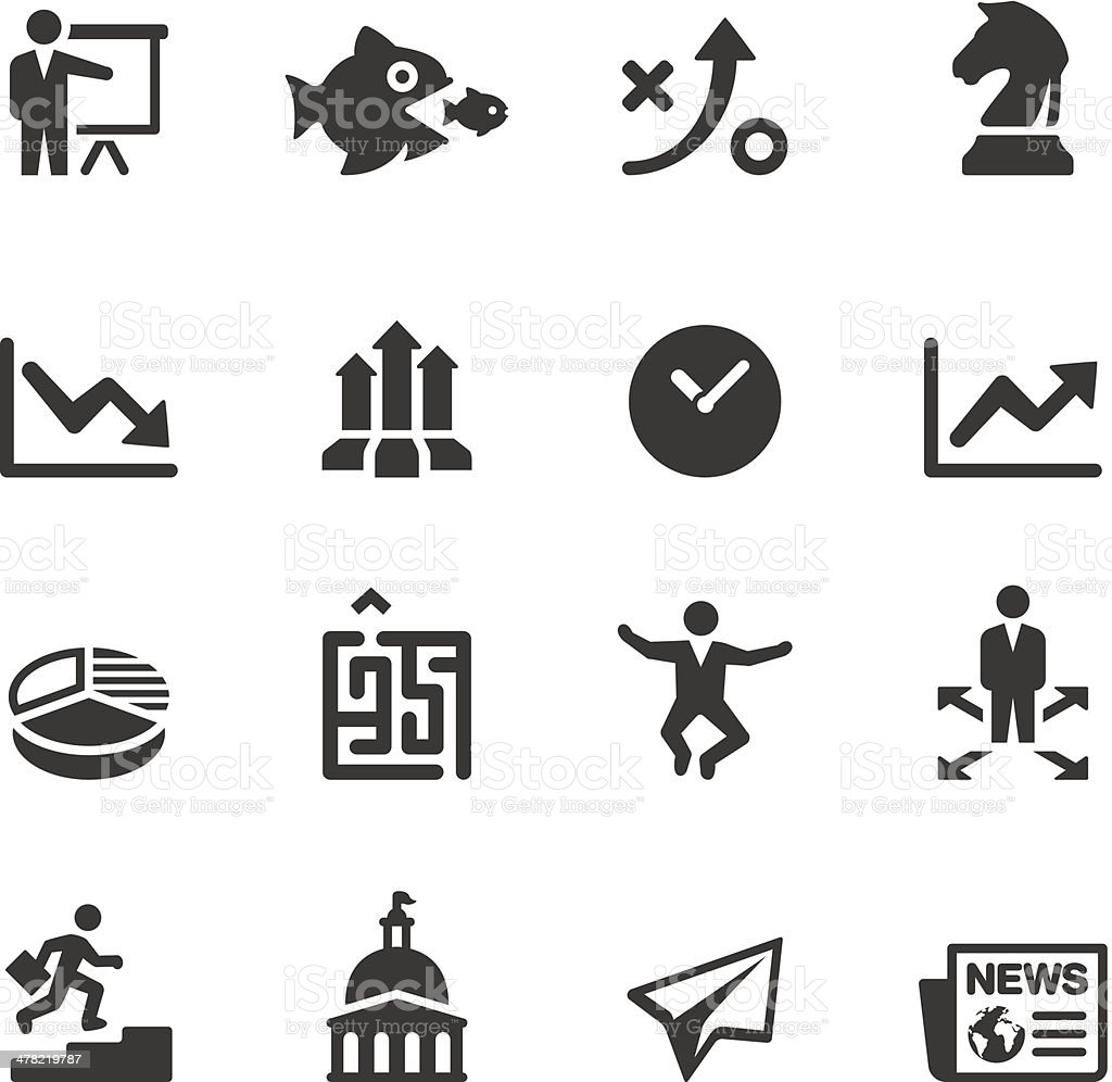Soulico - Business strategy icons vector art illustration