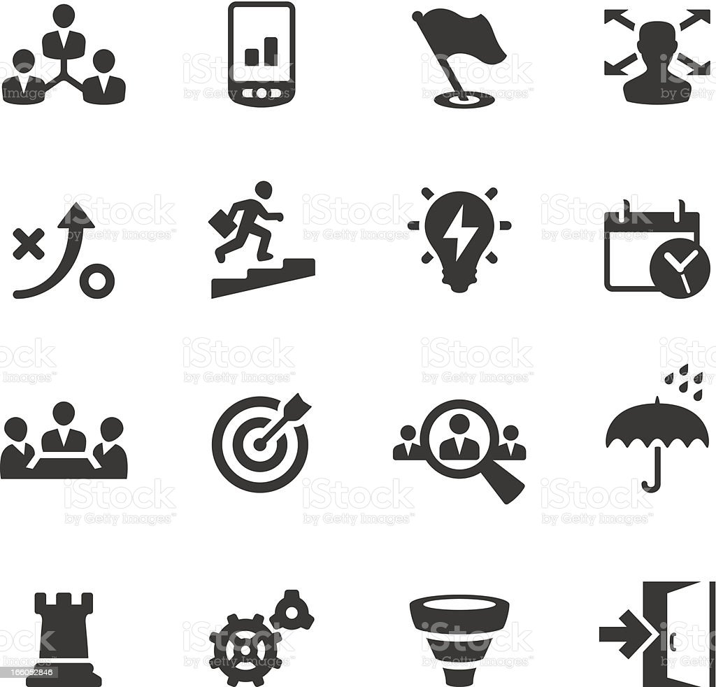 Soulico - Business Strategy vector icons vector art illustration