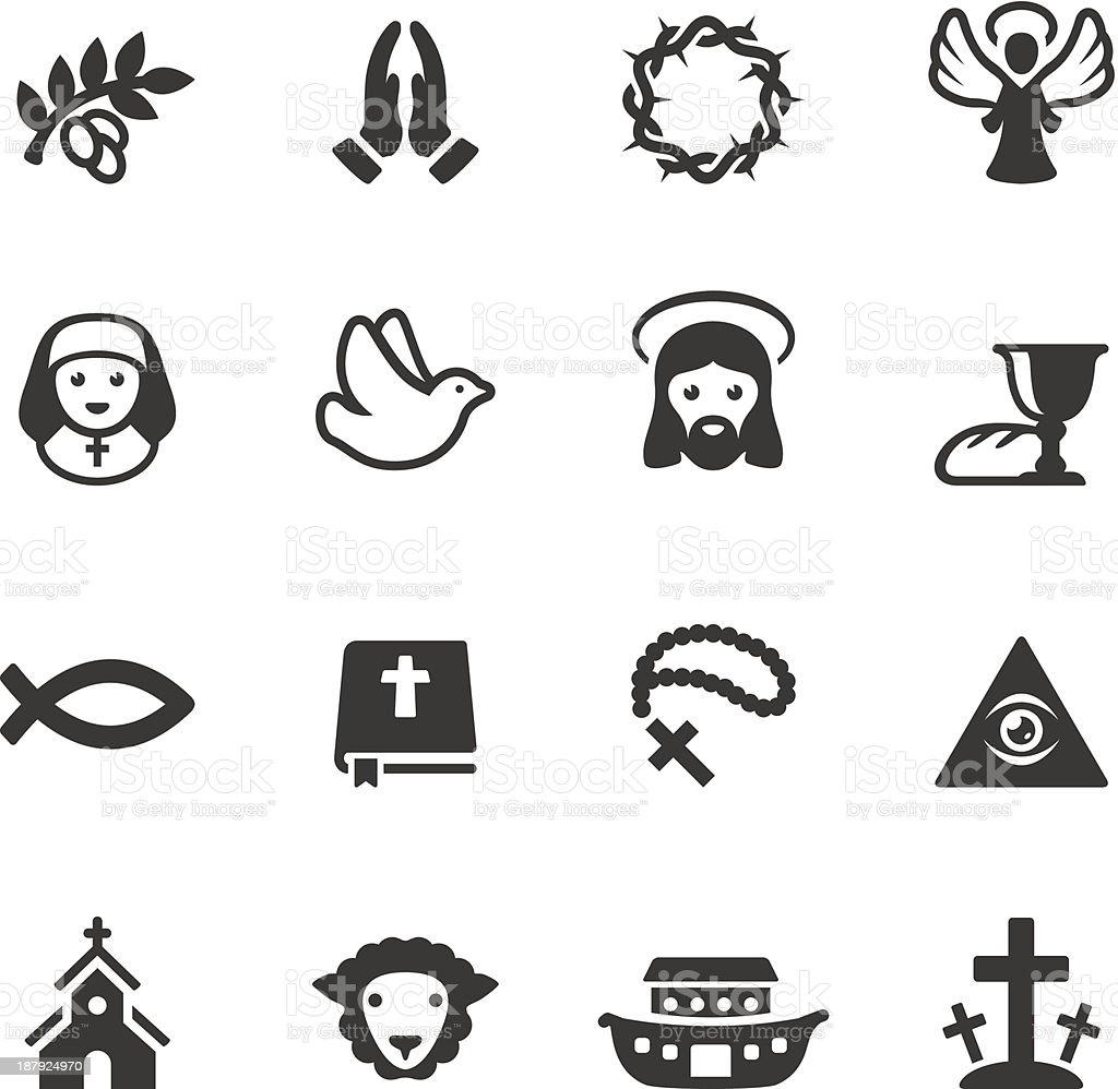 Soulico - Christianity icons vector art illustration