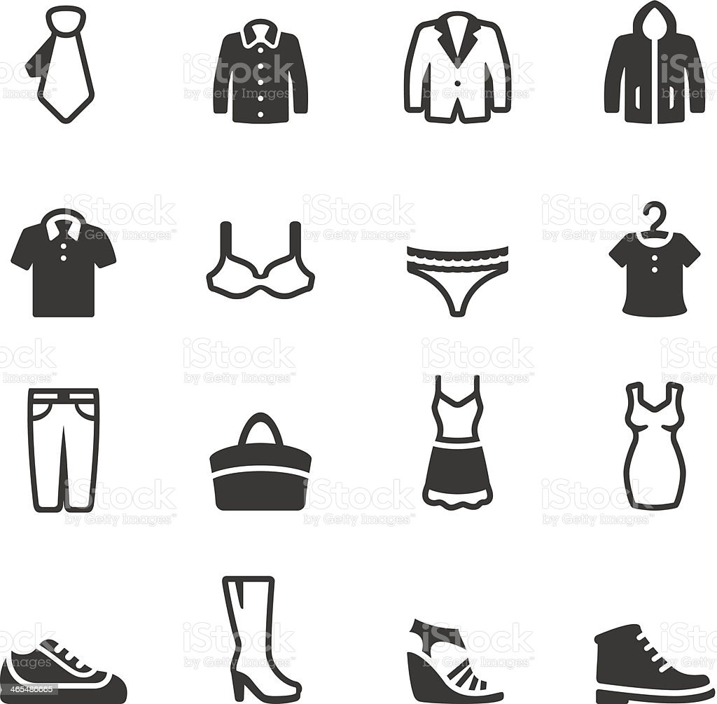 Soulico - Clothing icons vector art illustration