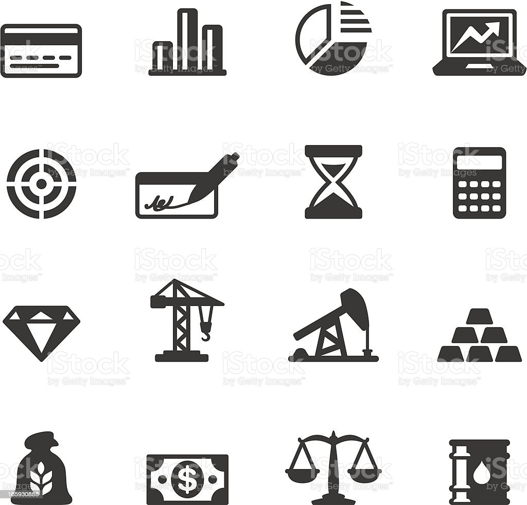Soulico - Economics and Investment vector icons vector art illustration