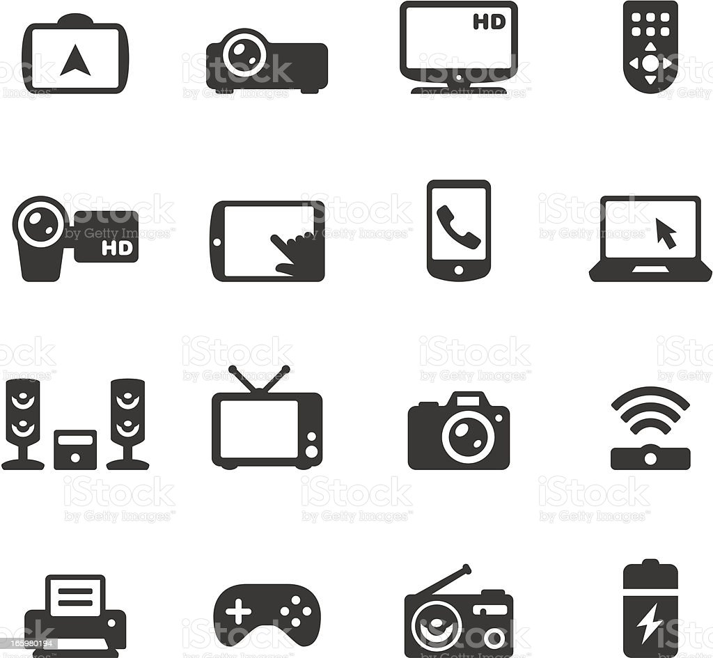 Soulico - Electronics and gadgets vector art illustration