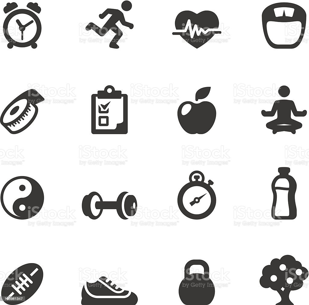 Soulico - Healthy Lifestyle vector icons royalty-free stock vector art