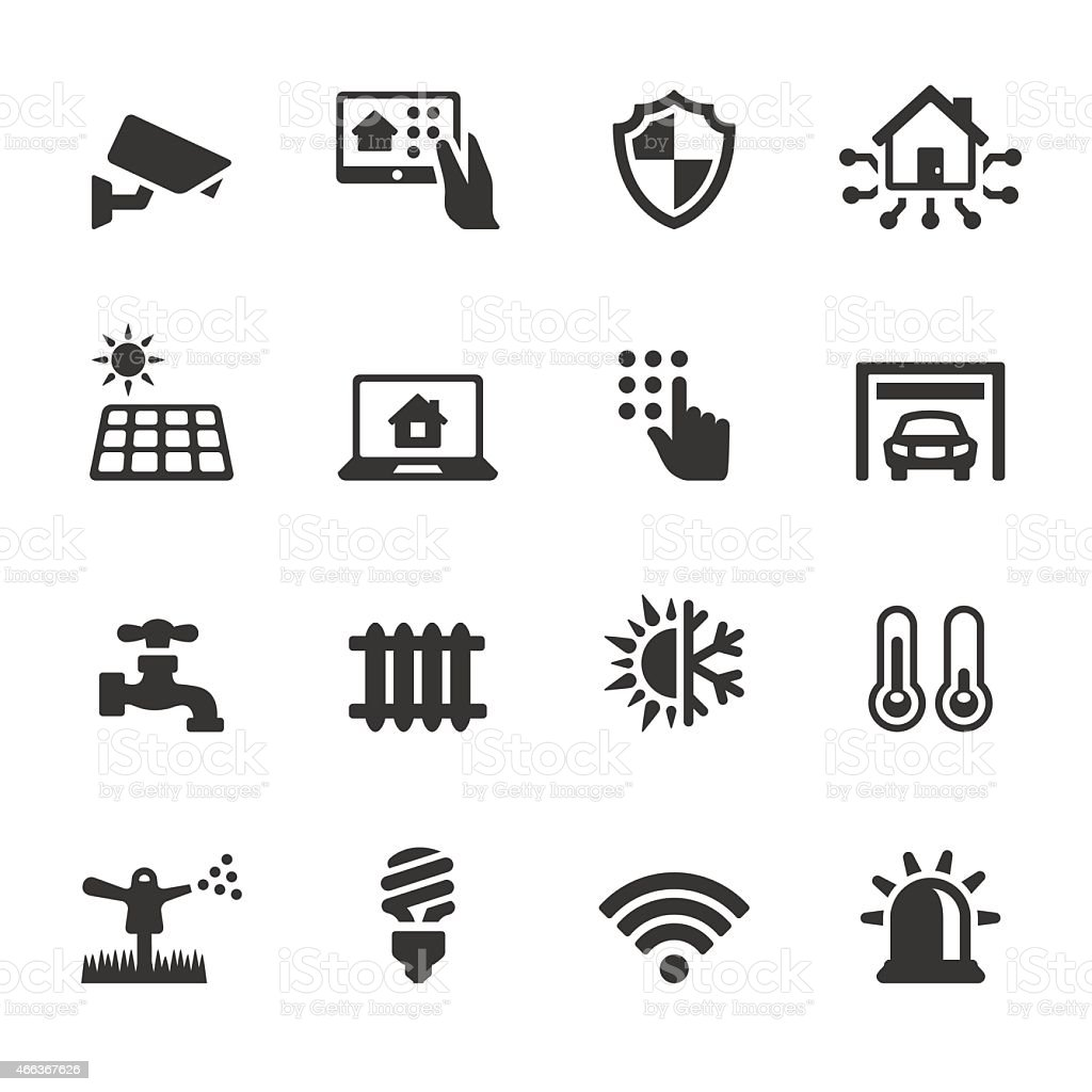 Soulico icons - Automated House vector art illustration