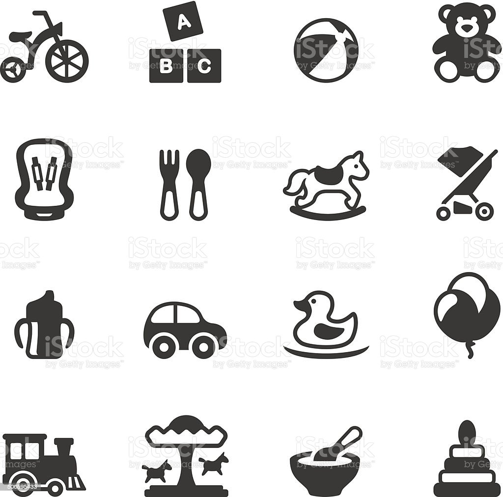 Soulico icons - Baby Goods vector art illustration