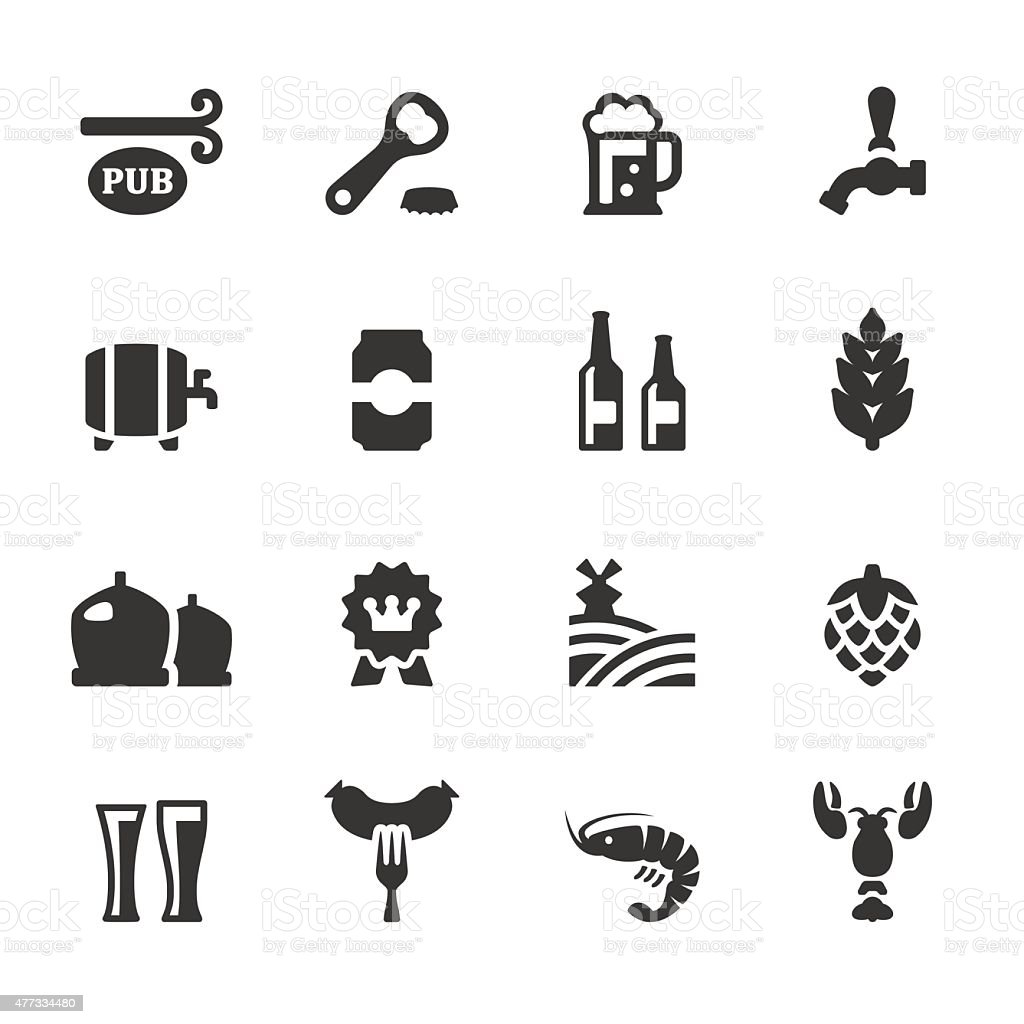 Soulico icons - Beer and Pub vector art illustration