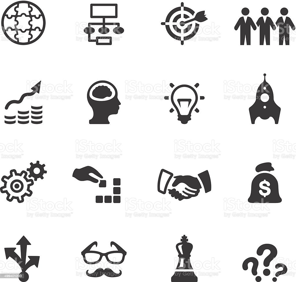 Soulico icons - Business solution vector art illustration