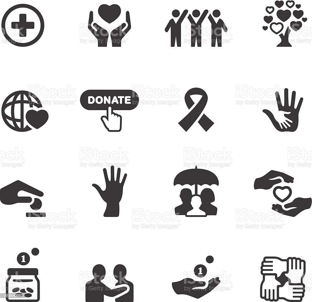 Soulico icons - Charity and Relief Work vector art illustration
