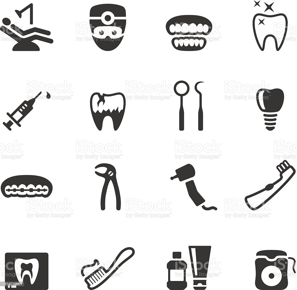 Soulico icons - Dental vector art illustration