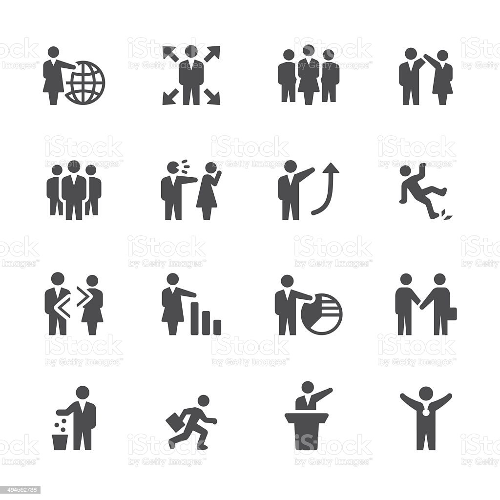 Soulico icons - Employment Issues vector art illustration