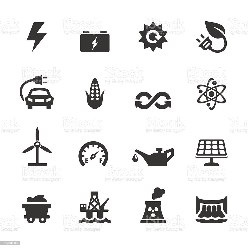 Soulico icons - Fuel and Power Generation vector art illustration