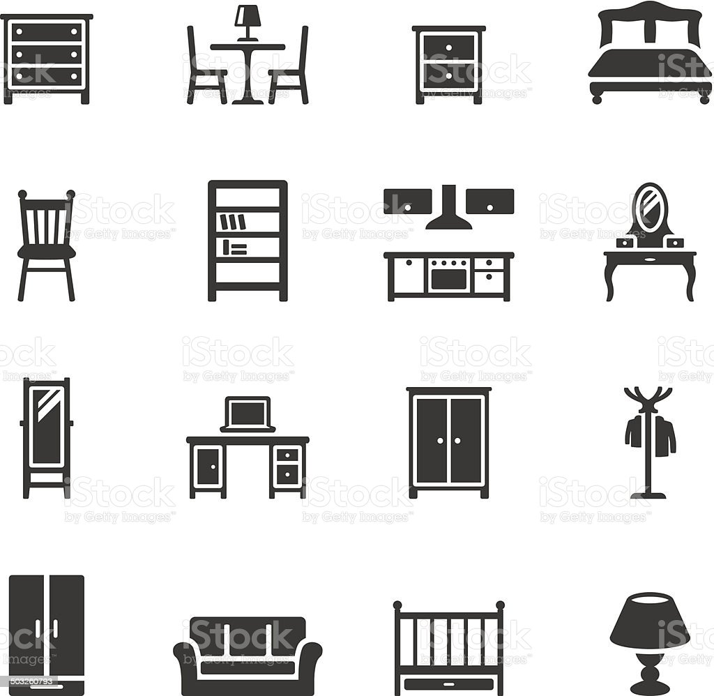 Soulico icons - Furniture vector art illustration