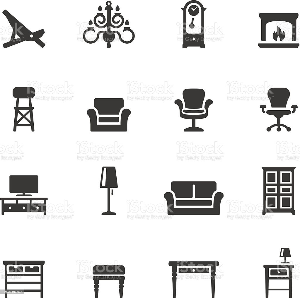 Soulico icons - Home Interior vector art illustration
