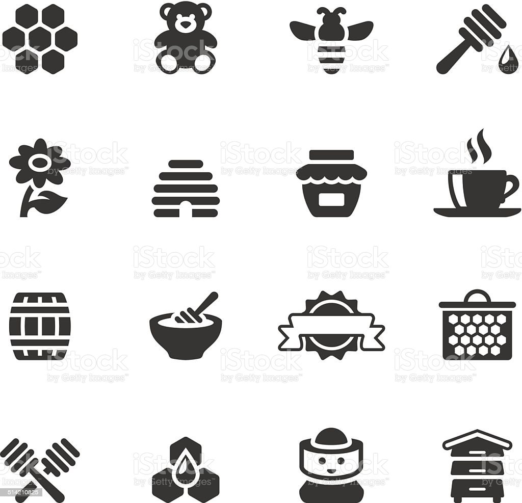 Soulico icons - Honey vector art illustration