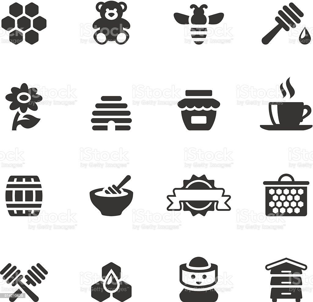 Soulico icons - Honey vector art illustration