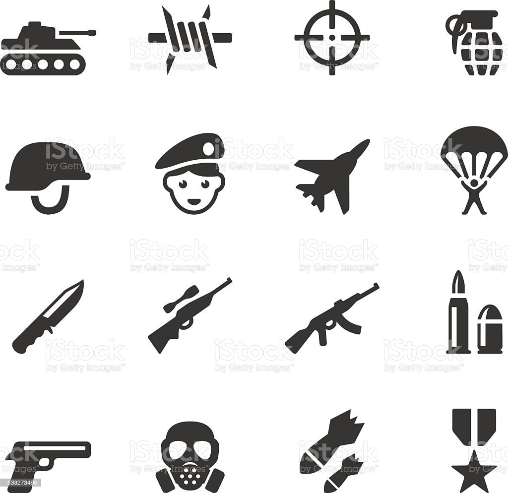 Soulico icons - Military vector art illustration