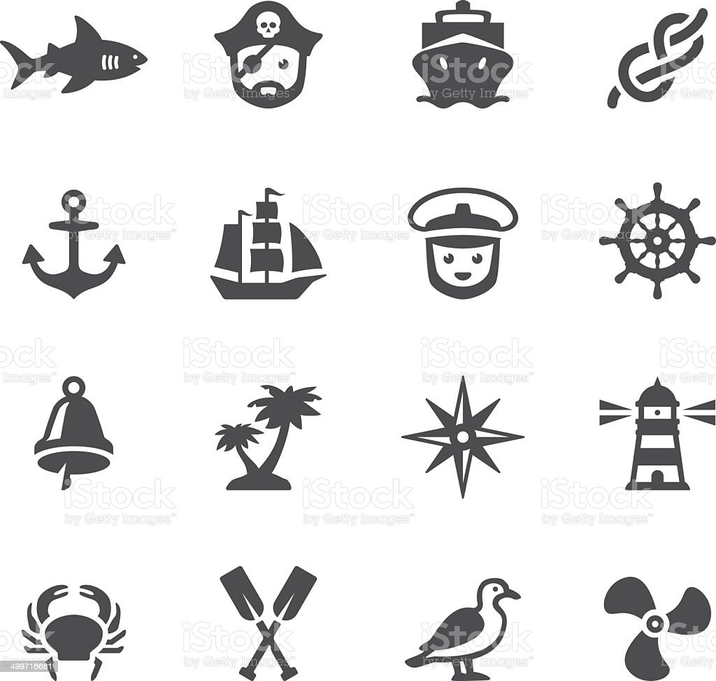 Soulico icons - Nautical vector art illustration