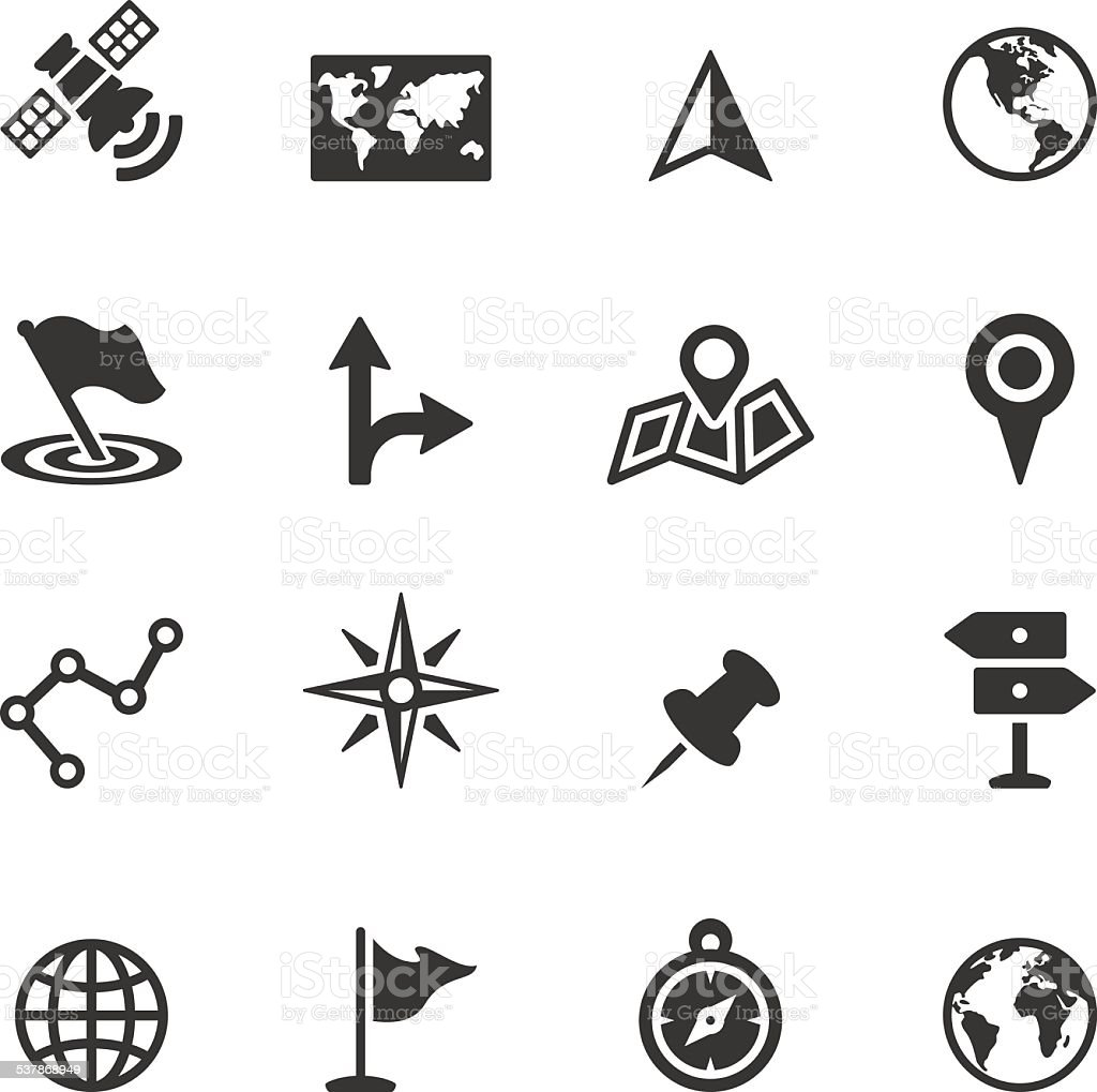 Soulico icons - Navigation and Map vector art illustration