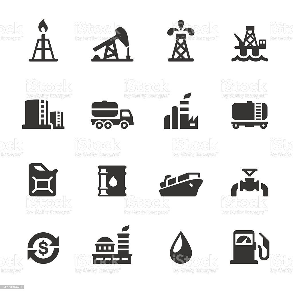 Soulico icons - Oil Industry vector art illustration