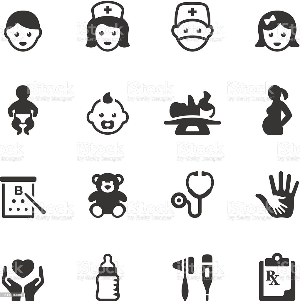 Soulico icons - Pediatrician vector art illustration
