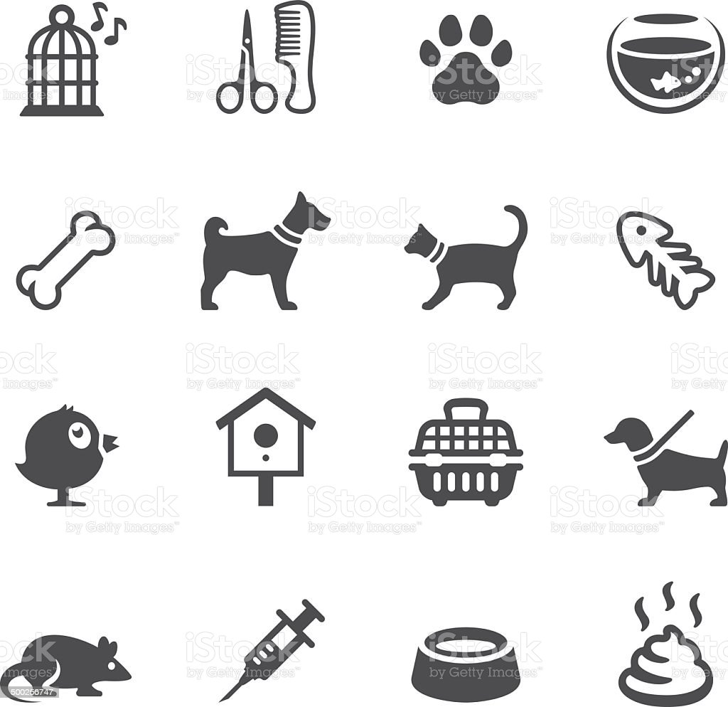 Soulico icons - Pets vector art illustration