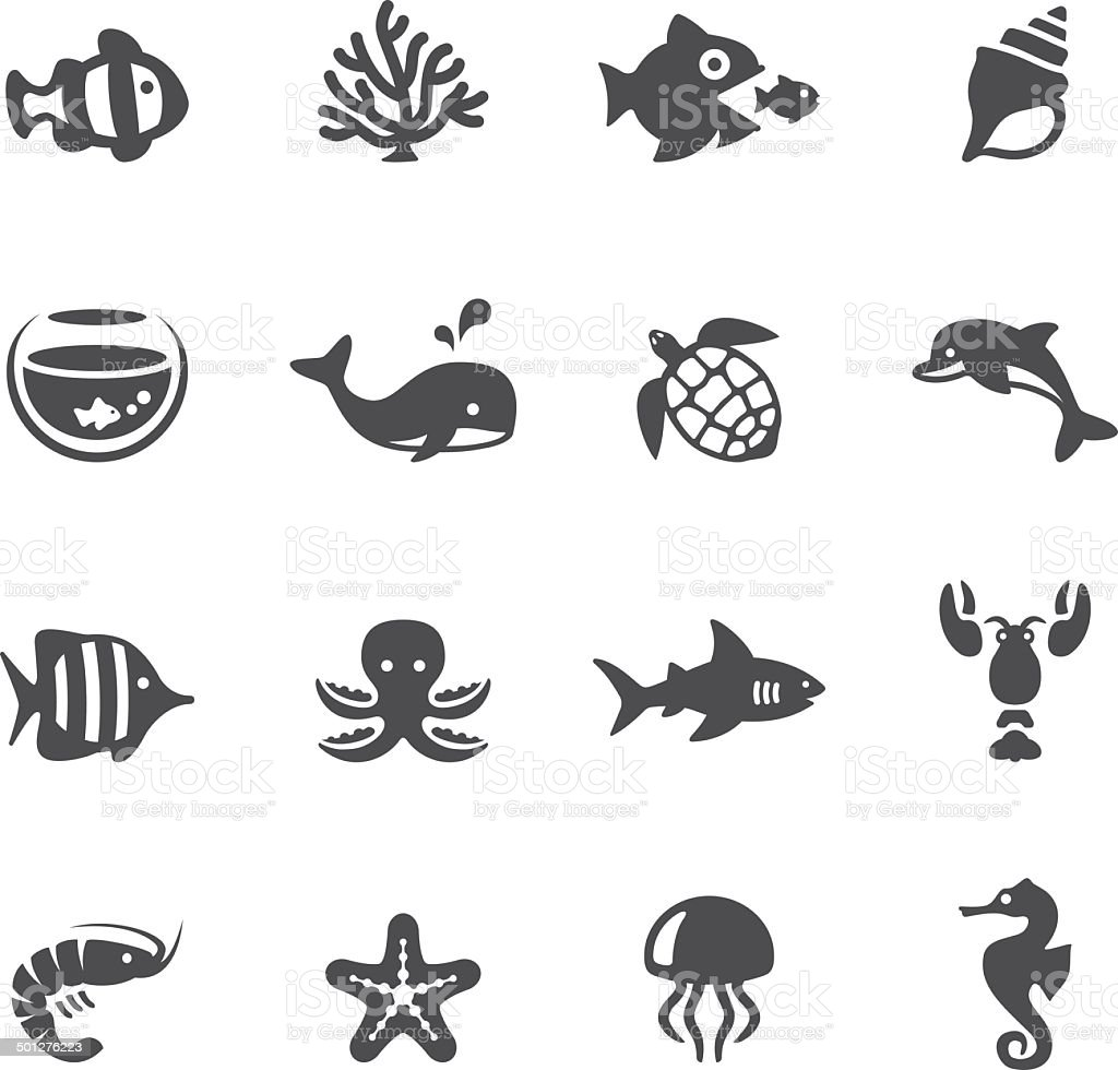 Soulico icons - Sea Life vector art illustration