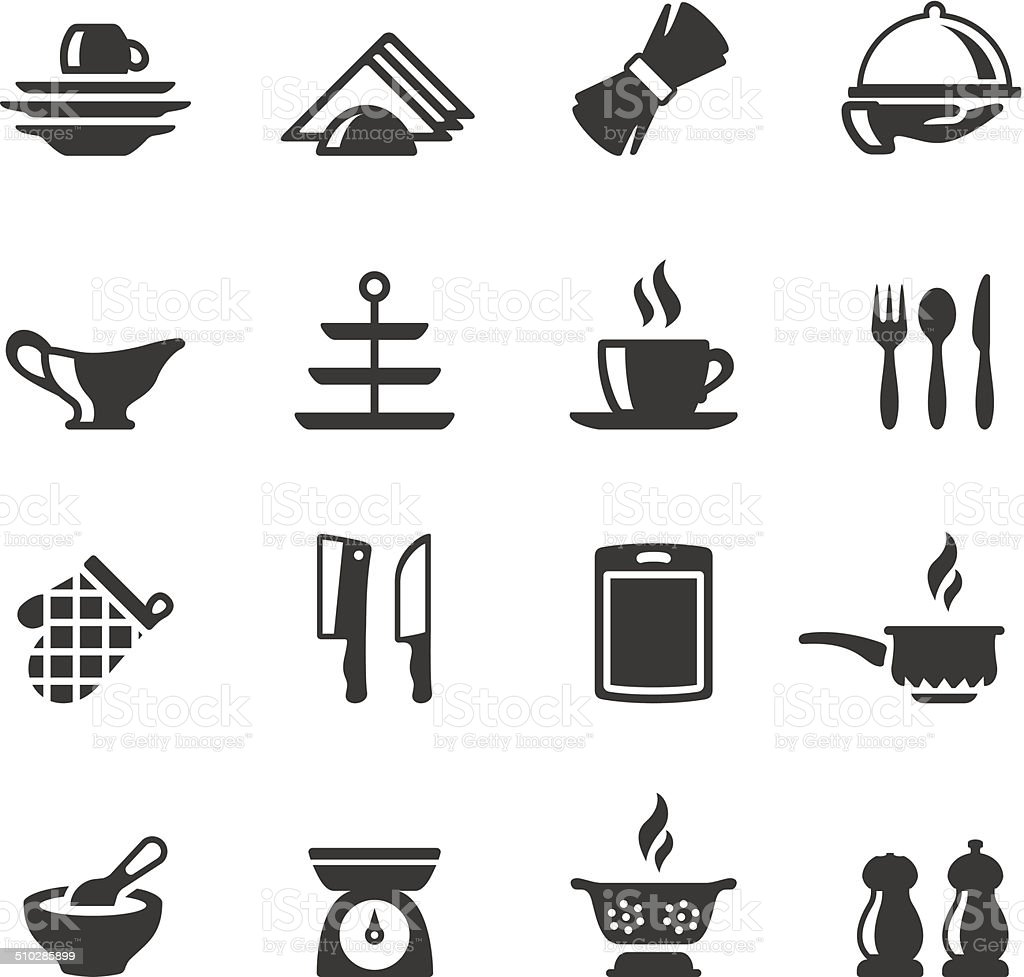 Soulico icons - Silverware vector art illustration