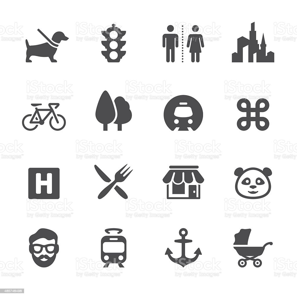 Soulico icons - Urban and City life vector art illustration