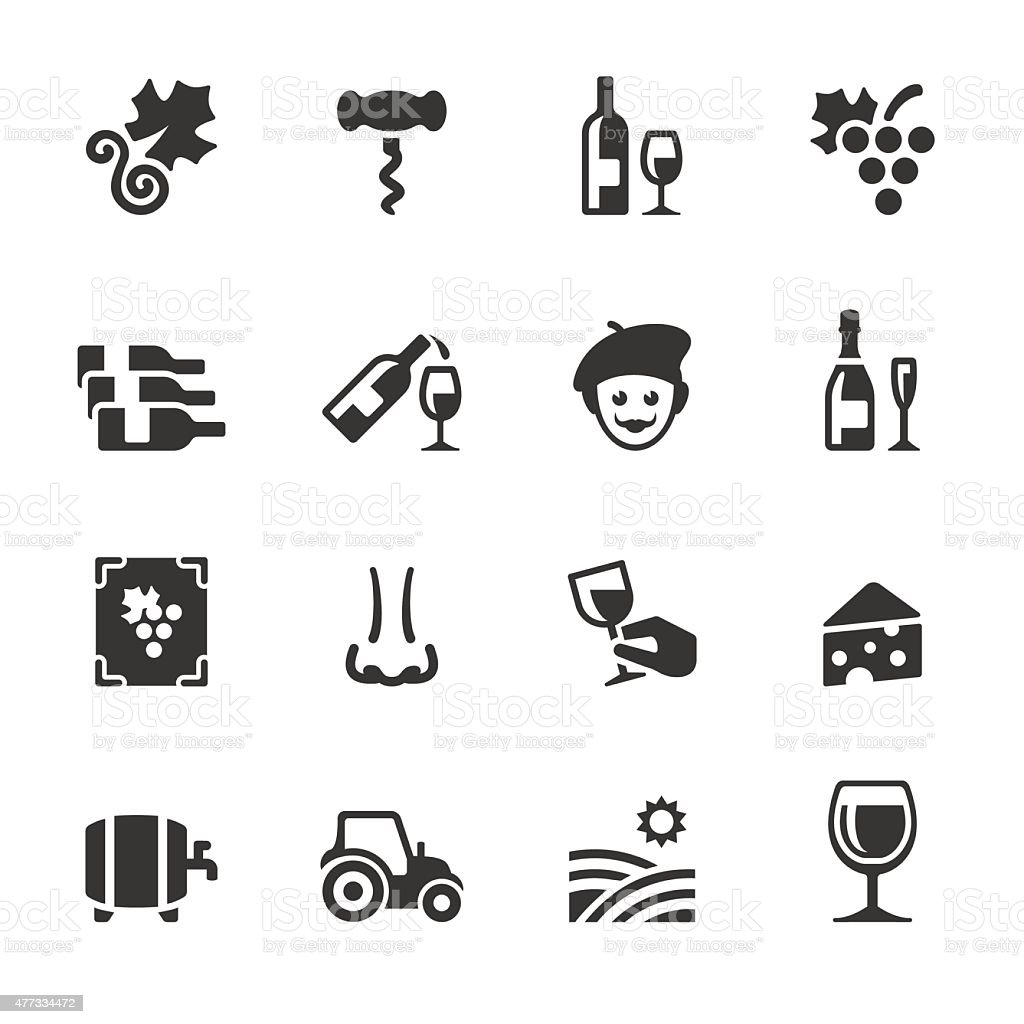 Soulico icons - Vineyard and Wine vector art illustration