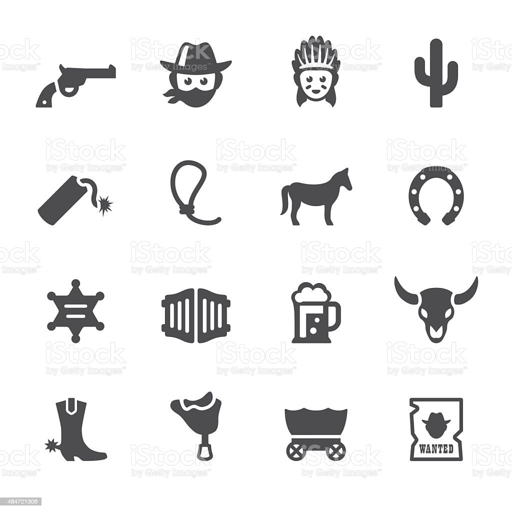 Soulico icons - Wild West and Cowboy vector art illustration