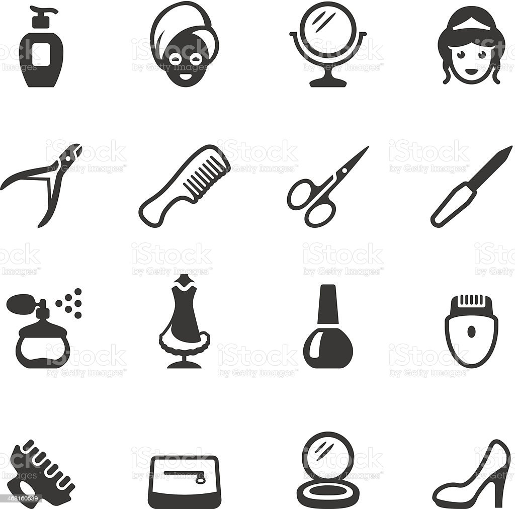 Soulico - Make-Up and Beauty icons vector art illustration