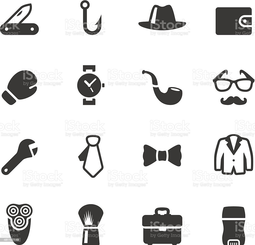 Soulico - Men's stuff icons vector art illustration