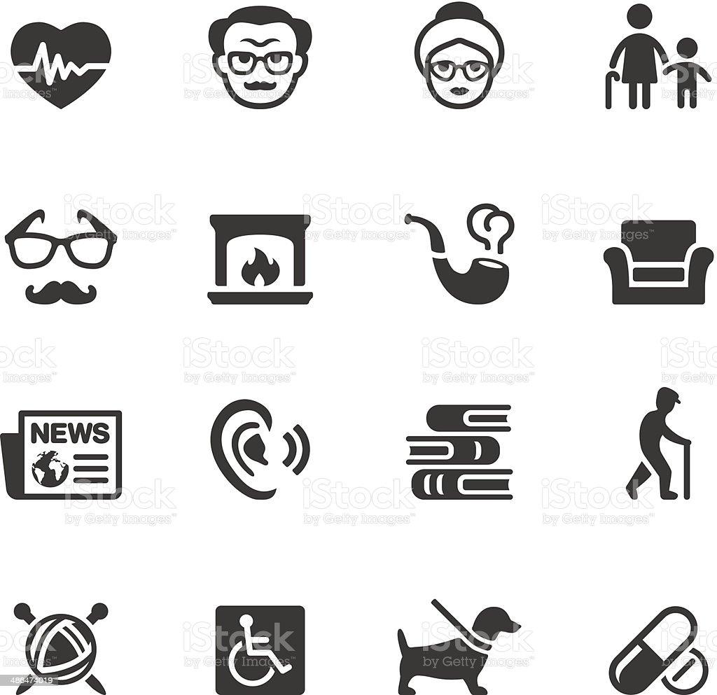 Soulico - Senior adult icons vector art illustration