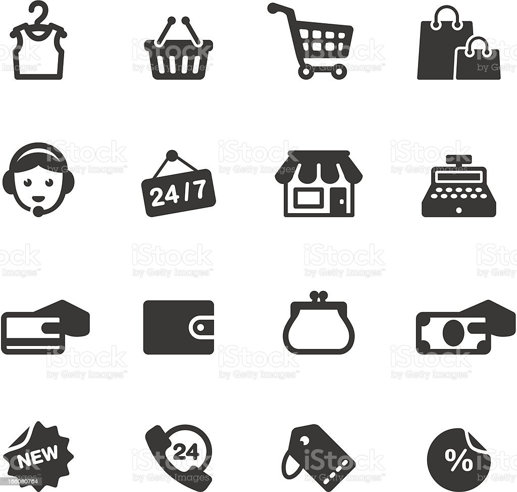 Soulico - Shopping and Sale related vector icons vector art illustration