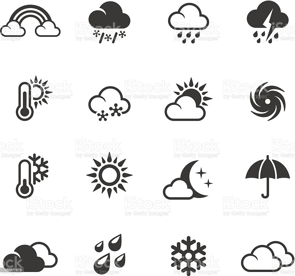 Soulico - Weather forecast vector art illustration