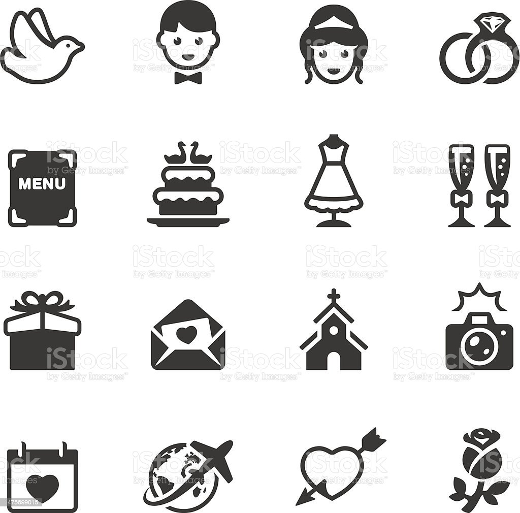Soulico - Wedding icons vector art illustration