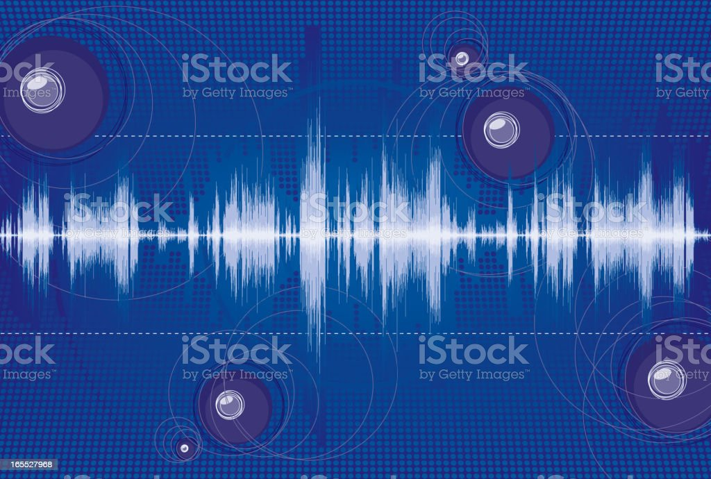 Sound Background royalty-free stock vector art