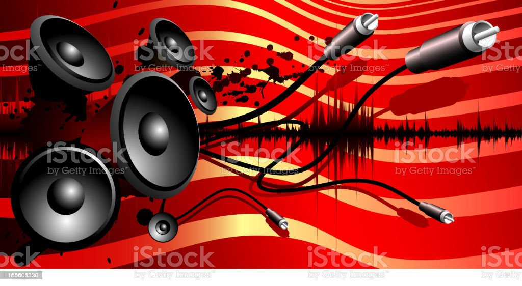 Sound flag background royalty-free stock vector art