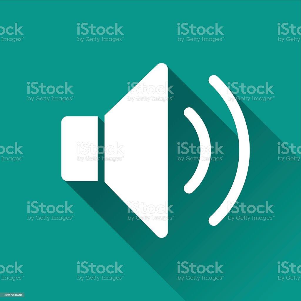 sound flat design icon vector art illustration
