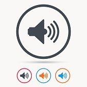 Sound icon. Music dynamic sign.