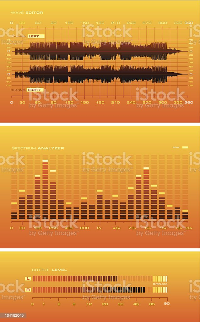 Sound Lab [orange] royalty-free stock vector art