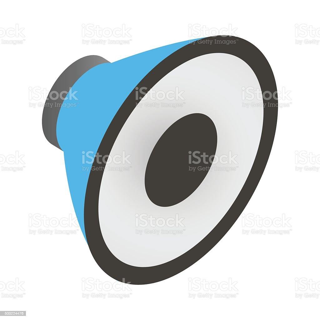 Sound speaker isometric 3d icon vector art illustration