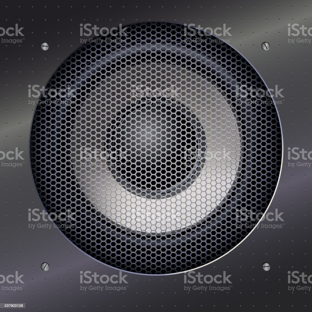 Sound speakers dynamics. vector art illustration