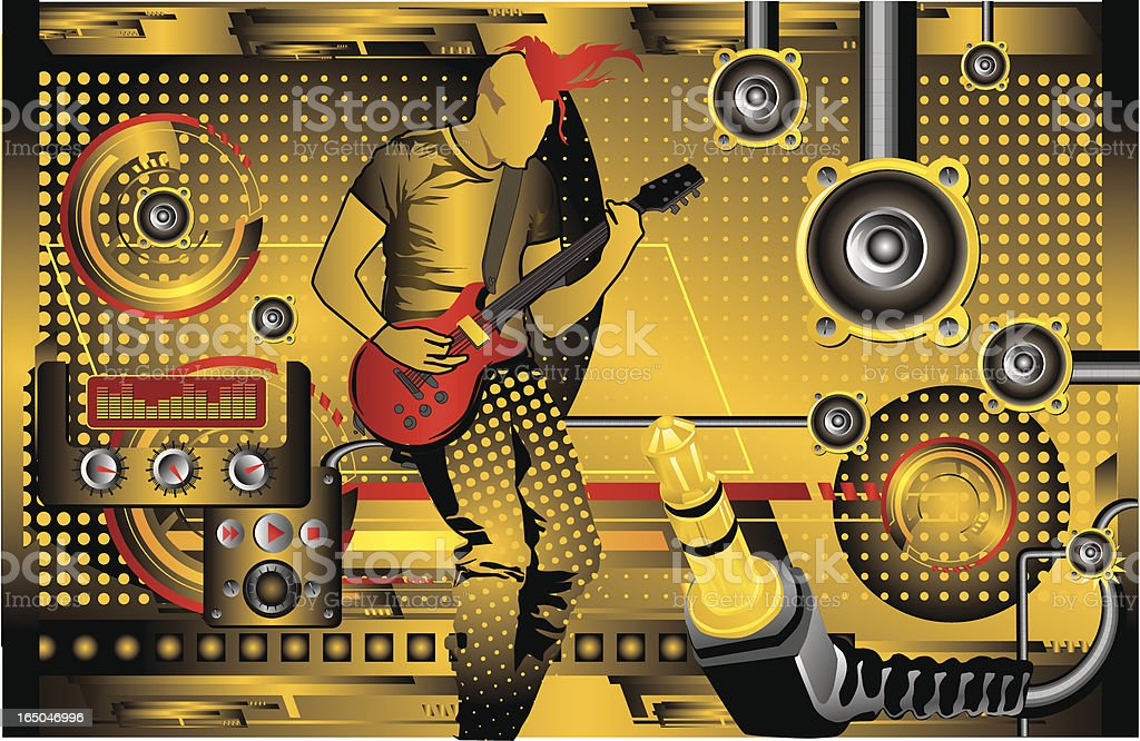 Sound Studio royalty-free stock vector art