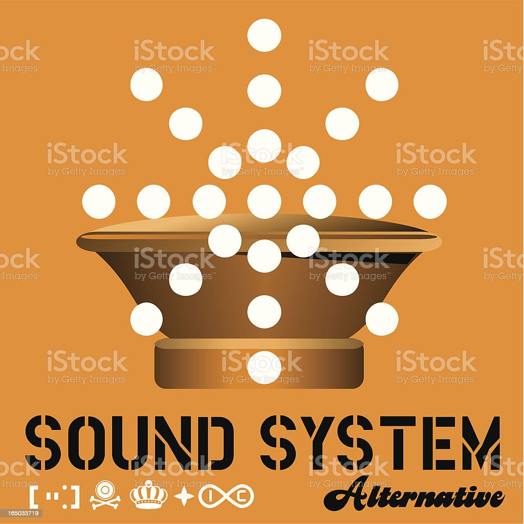 Sound System Alternative royalty-free stock vector art