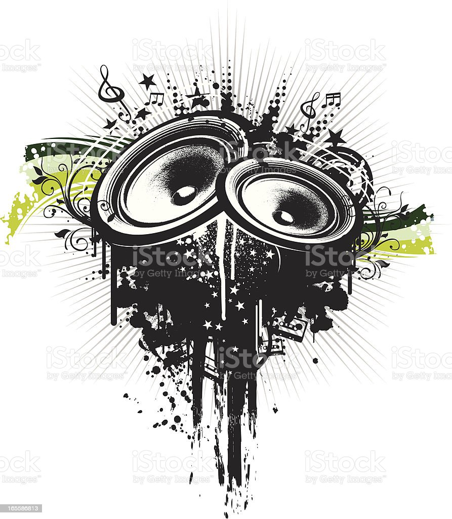 sound system royalty-free stock vector art