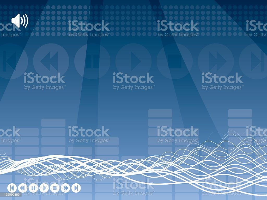 Sound Wave Abstract - Horizontal royalty-free stock vector art